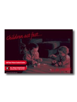 Poison prevention material - kids and pills poster