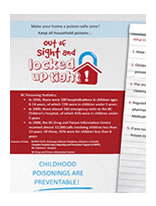 Poison Prevention Material - Out of Sight and Locked Up Tight Brochure
